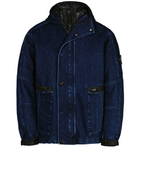 STONE ISLAND Denim outerwear 42334 POLYPROPYLENE DENIM WITH DETACHABLE LINING IN PRIMALOFT® INSULATION TECHNOLOGY