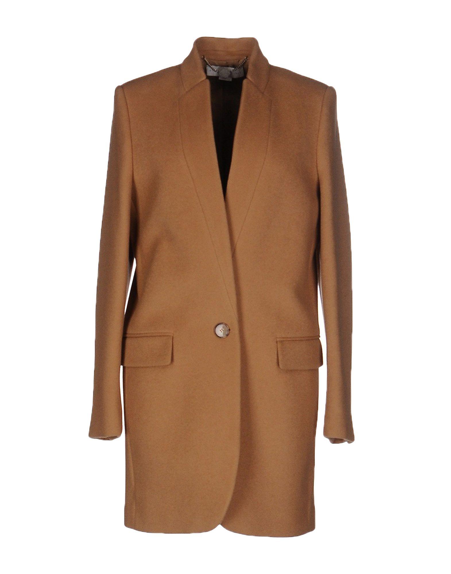 《期間限定セール中》STELLA McCARTNEY レディース コート キャメル 46 ウール 75% / ナイロン 25%