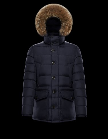 CLUNY Blue Long Down Jackets Man