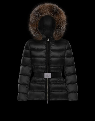 TATIE Black Short Down Jackets Woman
