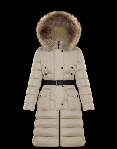 KHLOE Beige Long Down Jackets
