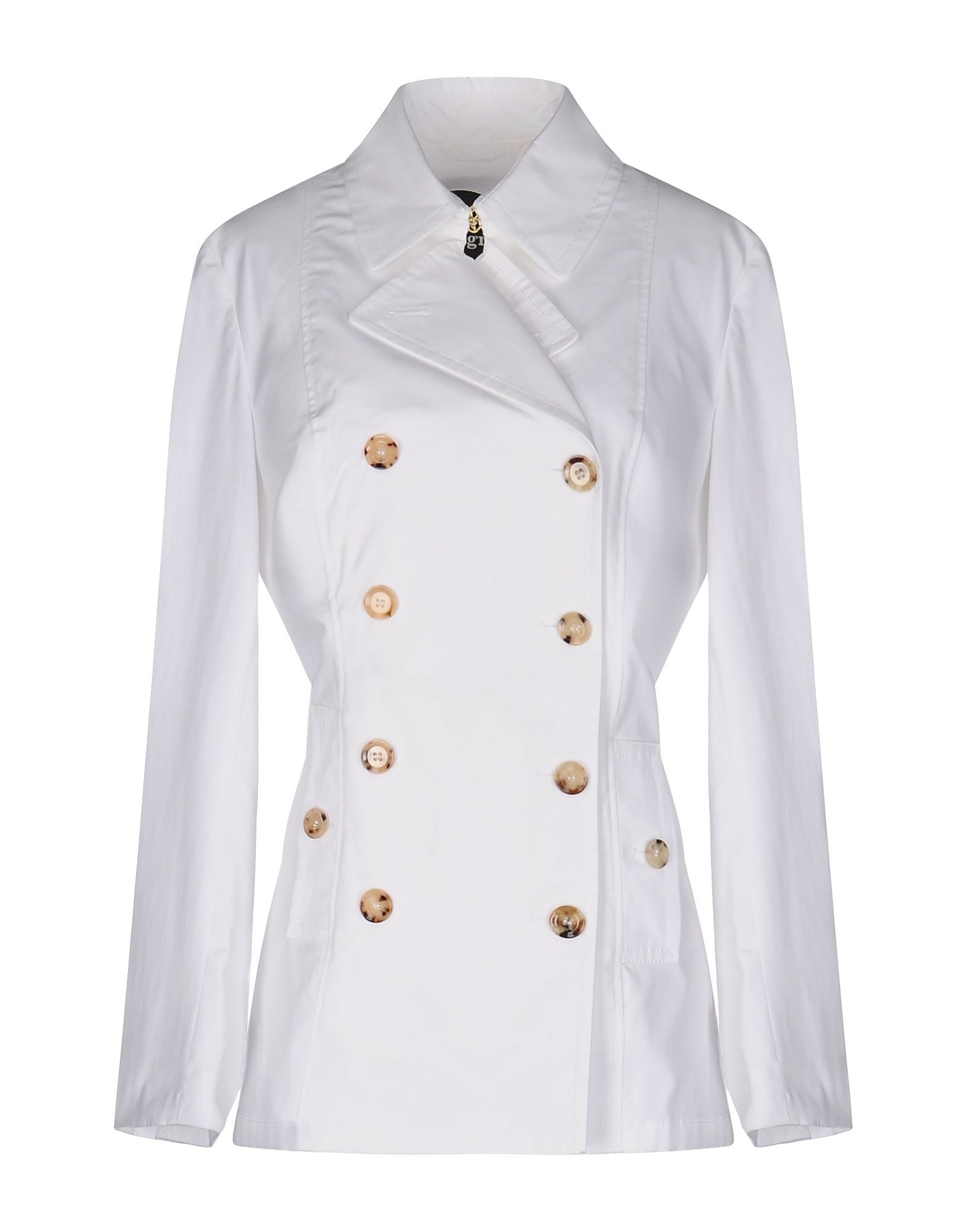 ALLEGRI Double Breasted Pea Coat in White