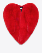 SAINT LAURENT Cape D Cape cœur en fourrure de renard rouge f