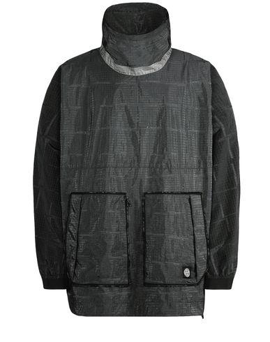 STONE ISLAND Jacket 457J4 STONE ISLAND HOUSE CHECK JACQUARD ON NYLON METAL BLACK WATRO _ PACKABLE