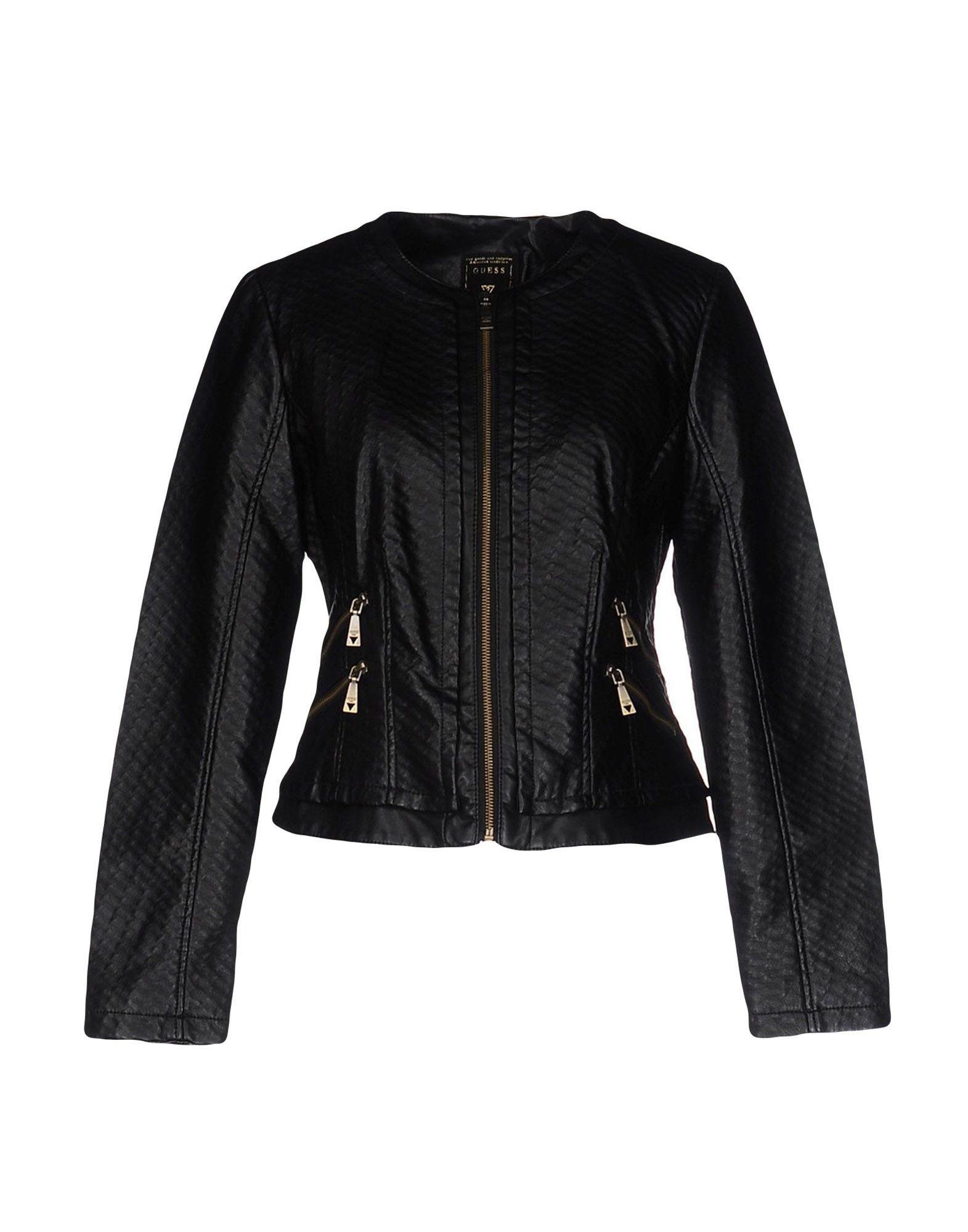 GUESS Куртка двуцетная кожаная куртка косуха на молнии