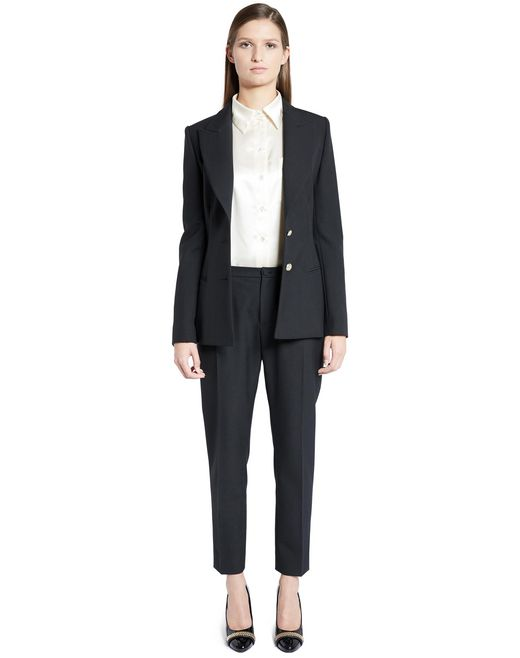 lanvin hemp canvas tailored jacket women