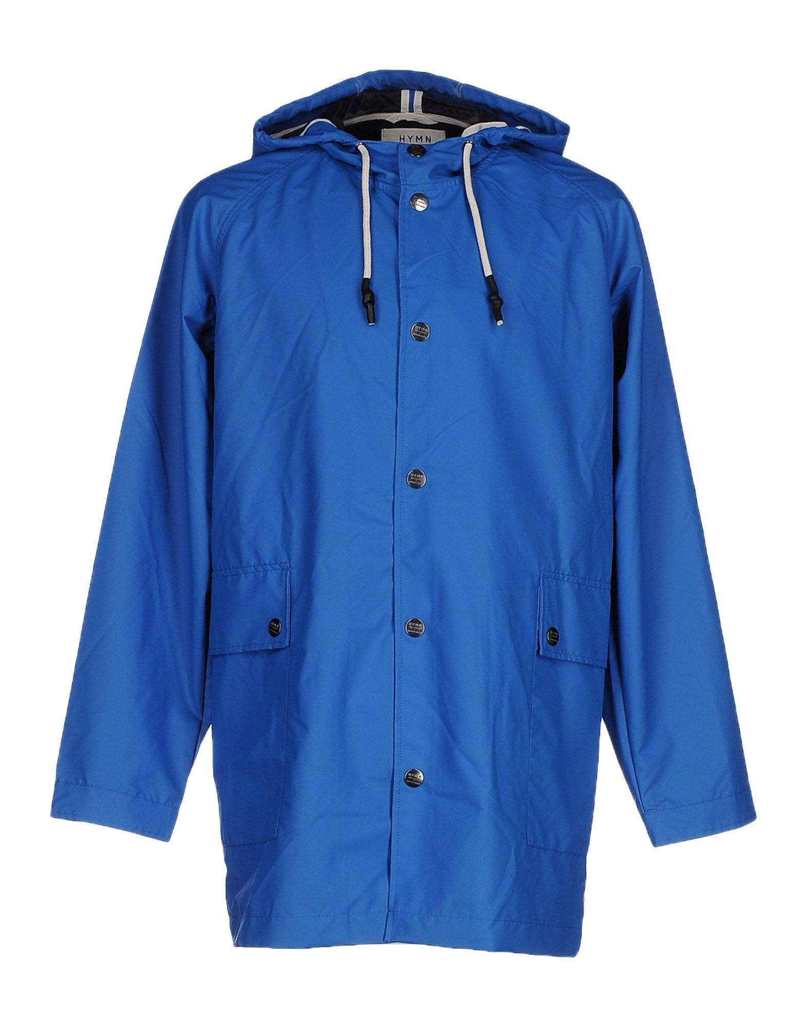 《送料無料》HYMN メンズ ライトコート ブルー S 100% ポリウレタン