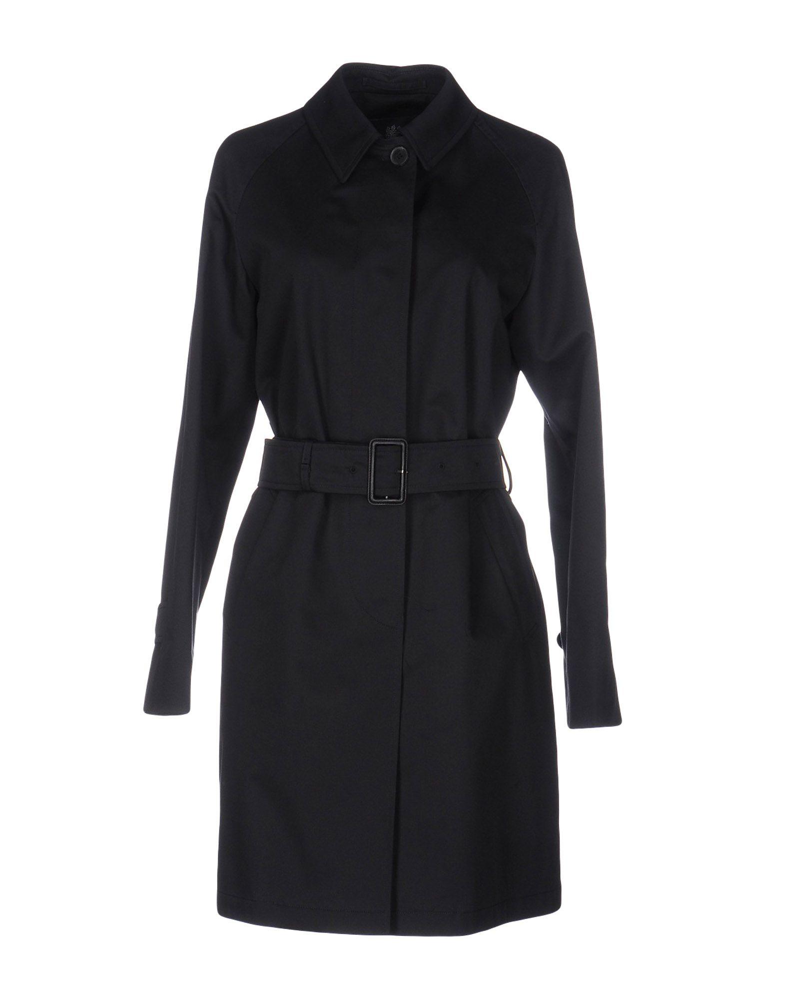 AQUASCUTUM Belted Coats in Dark Blue