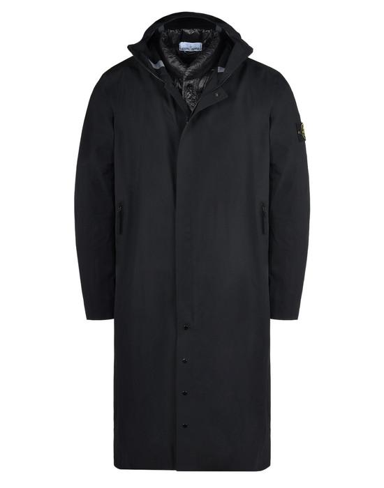 Down jacket 70325 WATER REPELLENT SUPIMA COTTON CON INTERNO STACCABILE IN PIUMA STONE ISLAND - 0