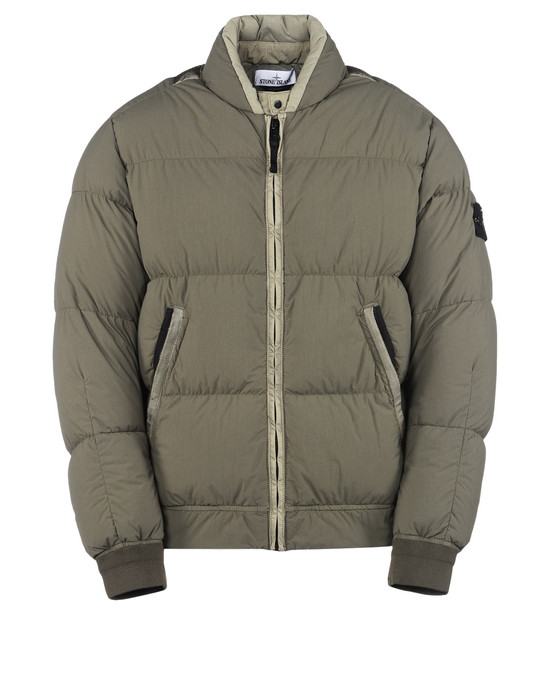 Down jacket 42832 GARMENT DYED ORGANIC FEEL TELA NY DOWN STONE ISLAND - 0