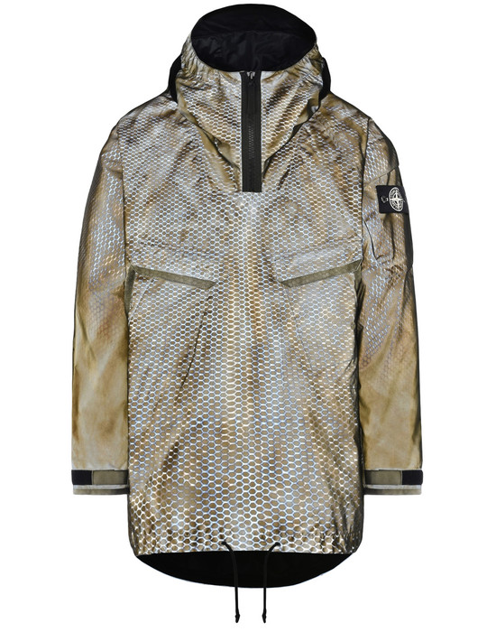Mid-length jacket 701R1 PROTOTYPE RESEARCH_SERIES 01<br>LASERING ON LIQUID REFLECTIVE BASE STONE ISLAND - 0