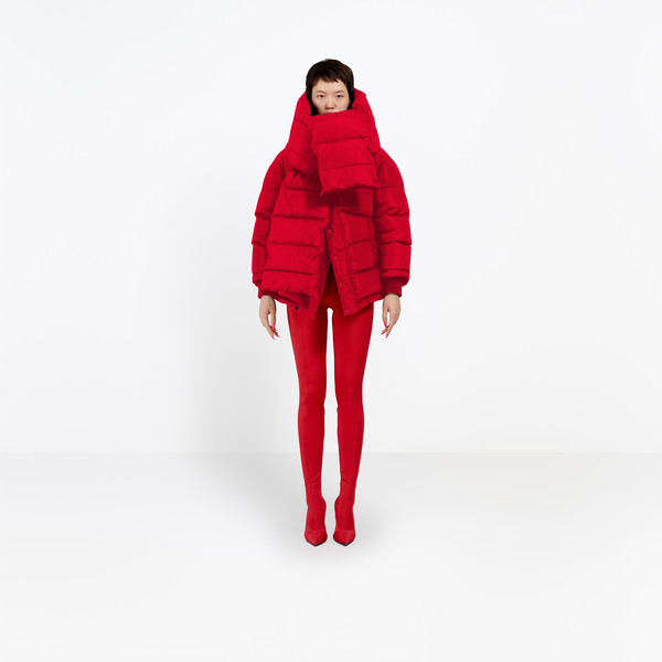 Balenciaga Swing Puffer Jacket | Red | Women's Coats