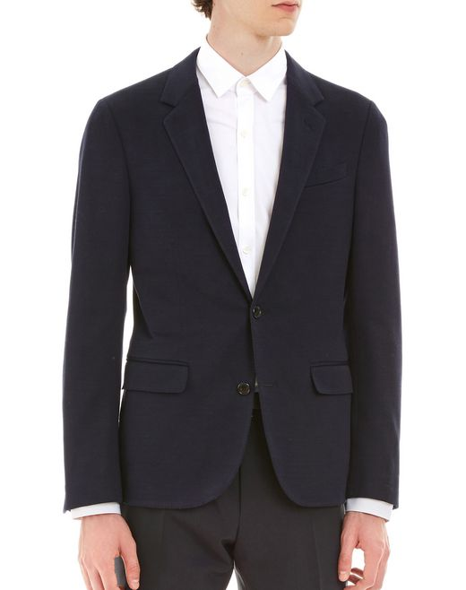 lanvin lightweight tailored jacket men