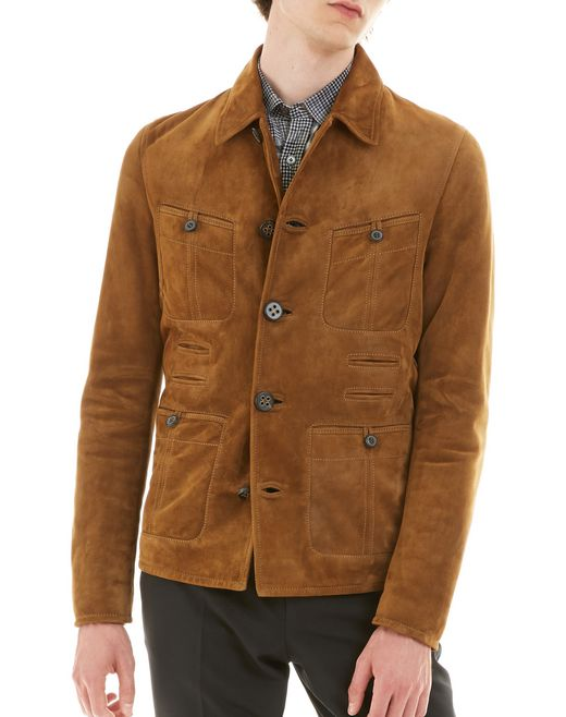 lanvin multi-pocket jacket  men