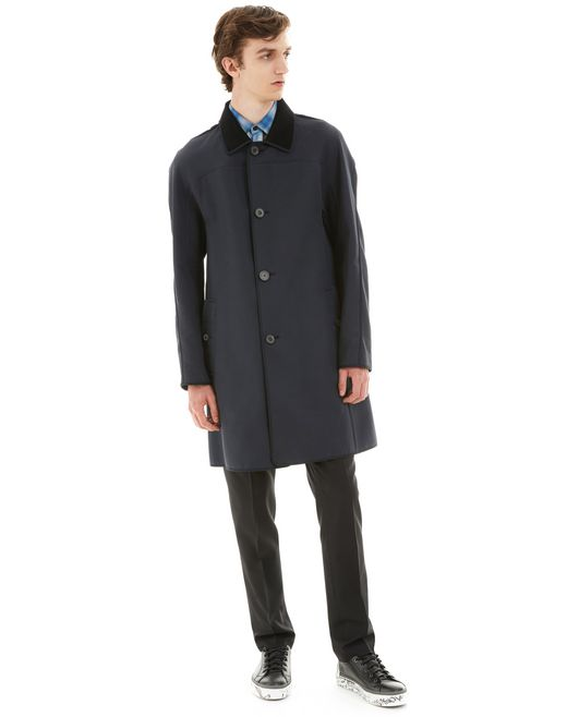 lanvin coat with braid details men