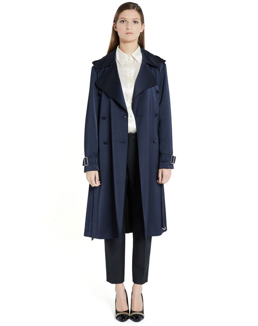 lanvin satin coat  women