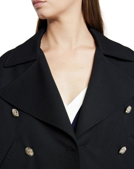 lanvin grain de poudre wool jacket women