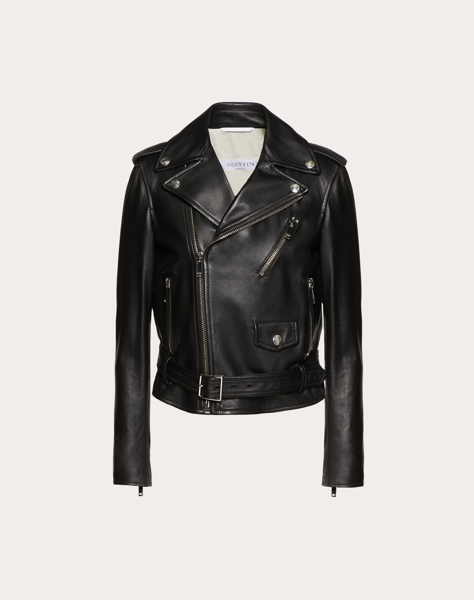 Rockstud Untitled Leather Jacket