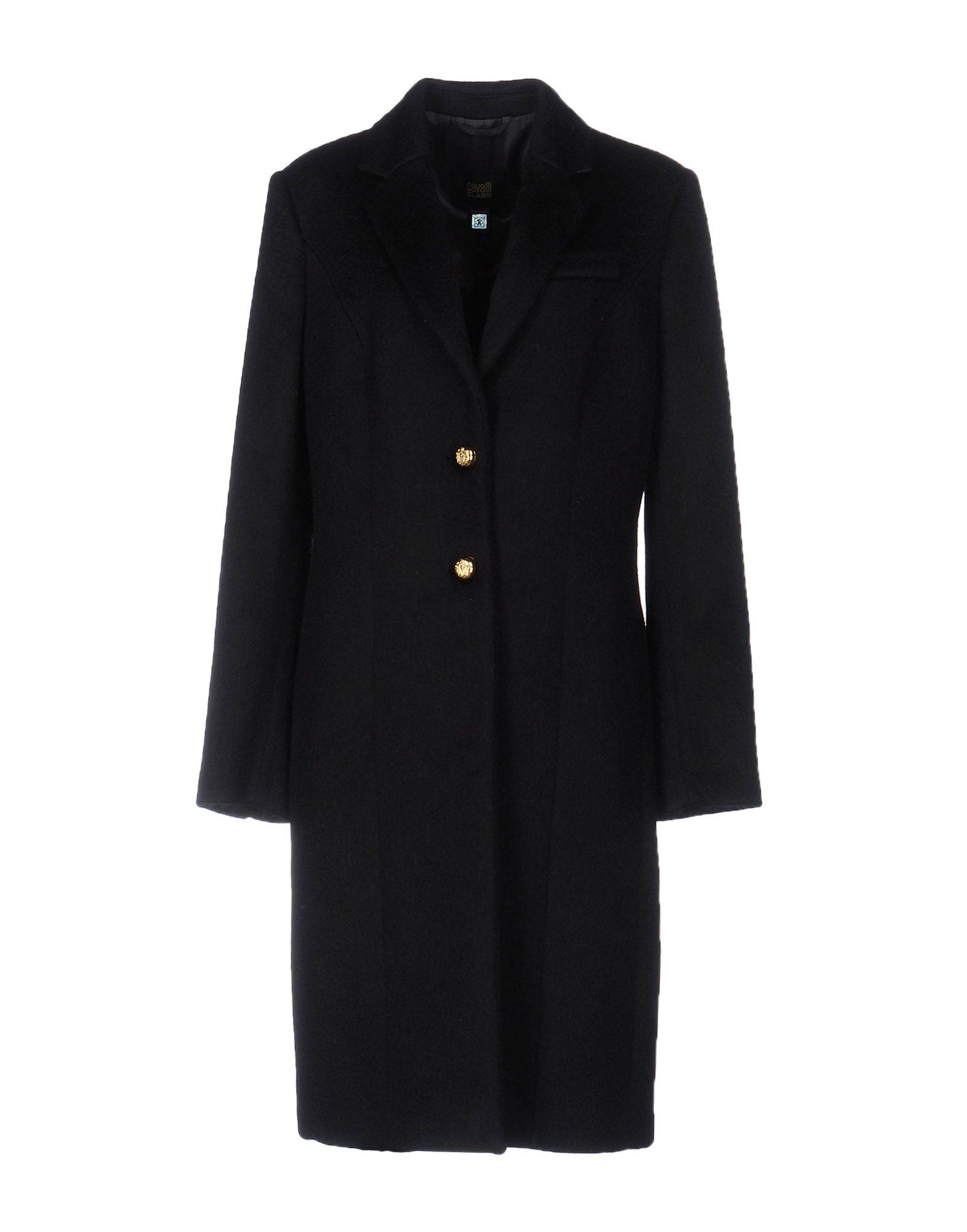 CLASS ROBERTO CAVALLI Damen Mantel Farbe Schwarz Größe 5 jetztbilligerkaufen