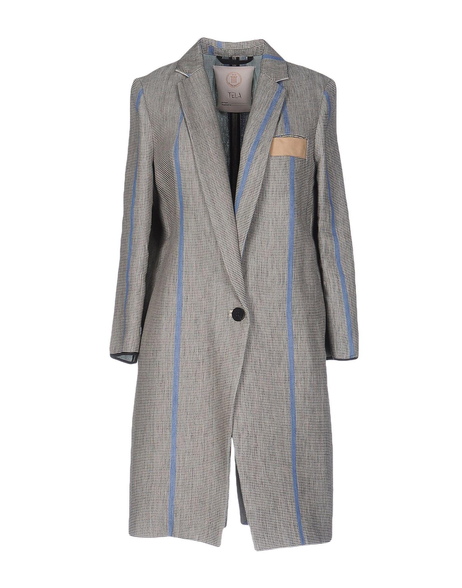 TELA Легкое пальто пальто зима кожаные рукава цена