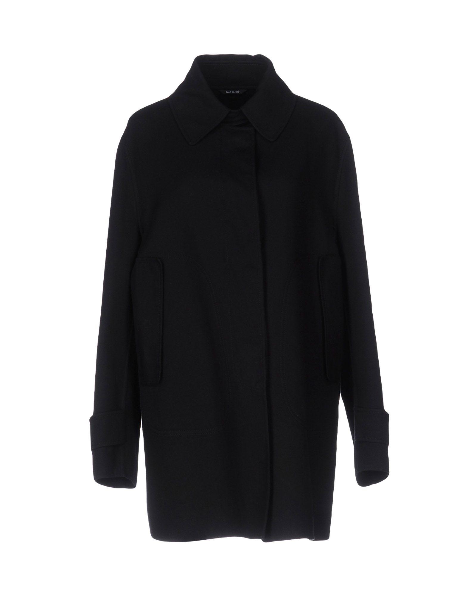 MAISON MARGIELA Damen Mantel Farbe Schwarz Größe 4 jetztbilligerkaufen