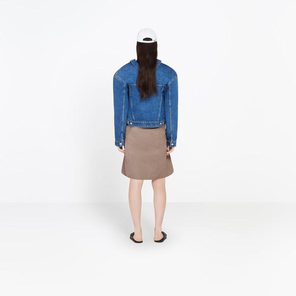 BALENCIAGA Jacket Woman Swing Collar Denim Jacket h