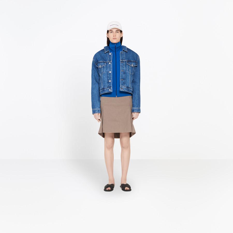 BALENCIAGA Swing Collar Denim Jacket Jacket Woman f