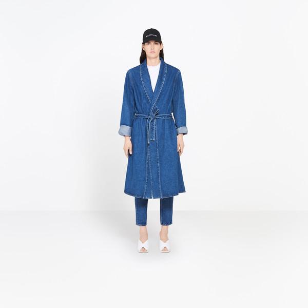 Denim Robe Coat