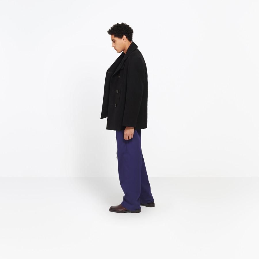 BALENCIAGA Boxy Peacoat Coats U i