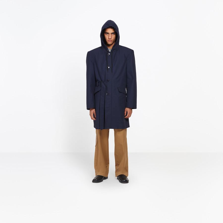 BALENCIAGA Hooded Boxy Parka Coats U g