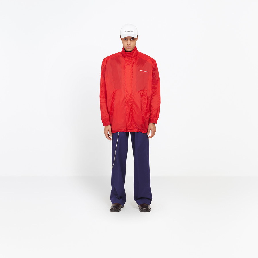 BALENCIAGA Boxy Windbreaker Coat Jacket U f