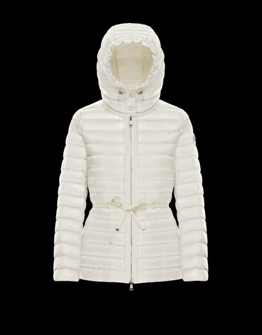 RAIE White Short Down Jackets Woman