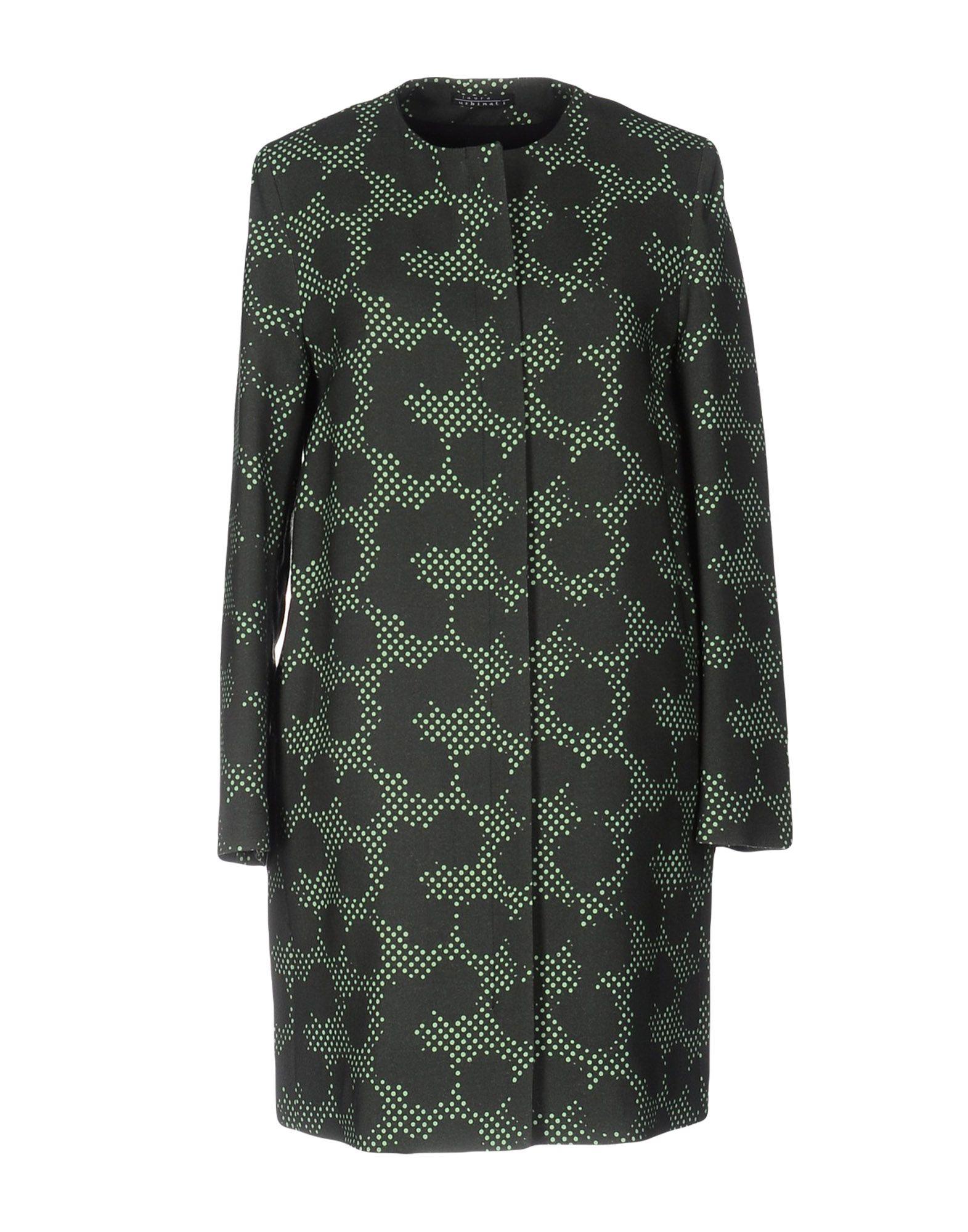 LAURA URBINATI Full-Length Jacket in Dark Green