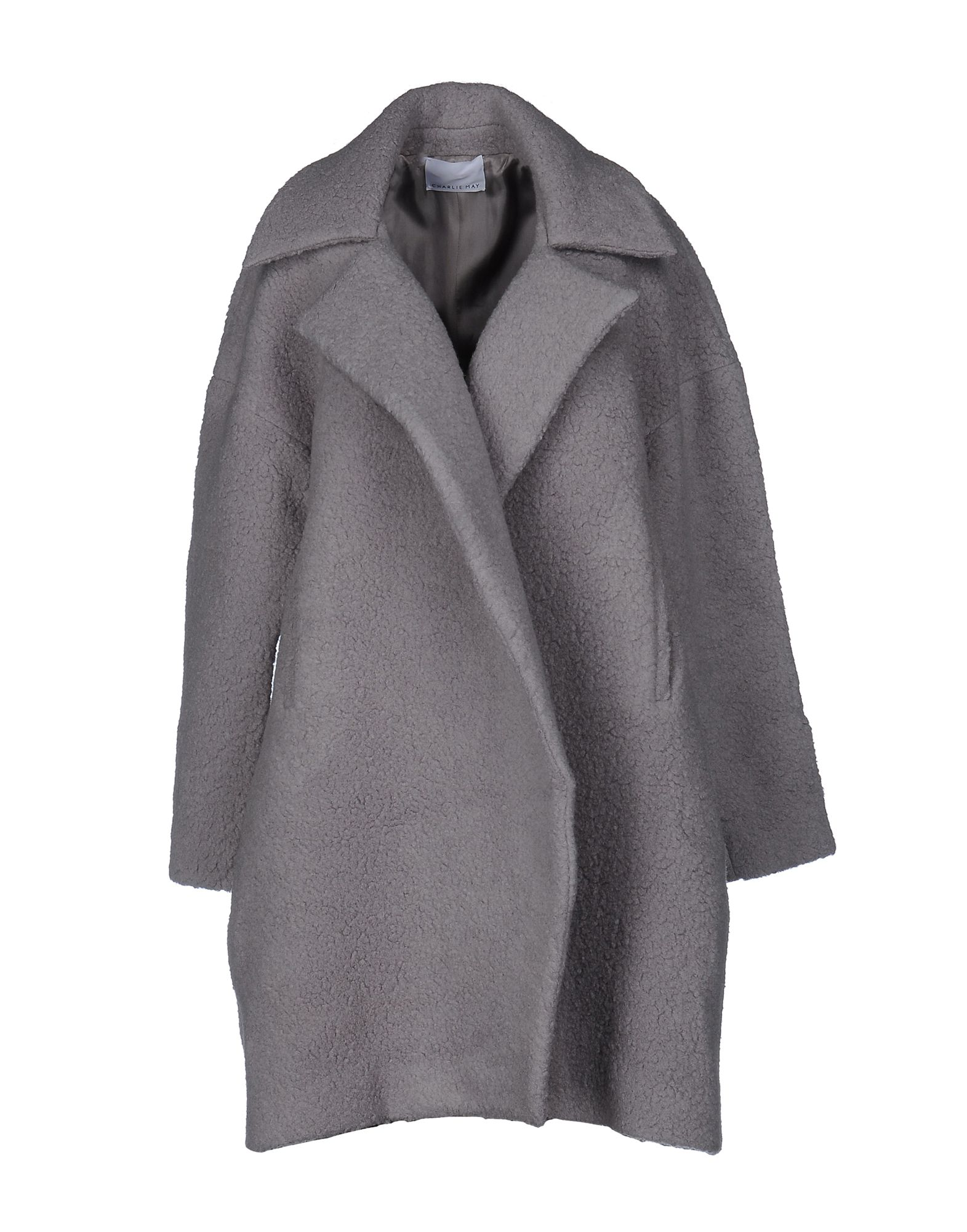CHARLIE MAY Coat in Light Grey