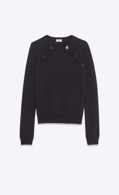 SAINT LAURENT Knitwear Tops D Sailor Double Button Sweater in black wool v4