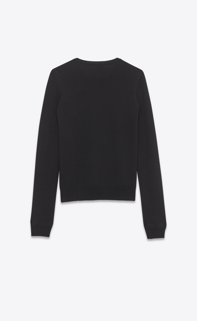 SAINT LAURENT Knitwear Tops D Sailor Double Button Sweater in black wool b_V4