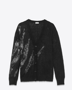 SAINT LAURENT Stricktops D Schwarzer Flamé-Cardigan f