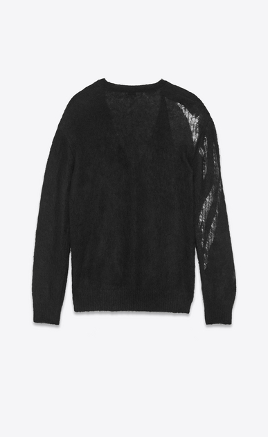 SAINT LAURENT Knitwear Tops D flame cardigan in black mohair b_V4
