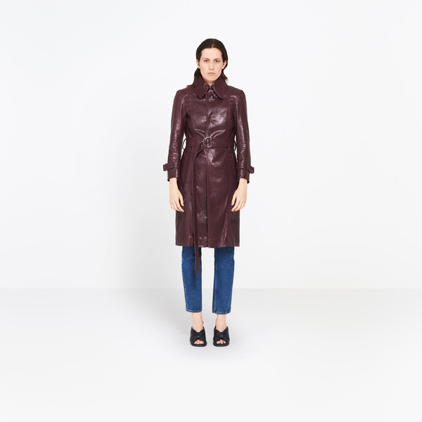 Arena Leather Trench