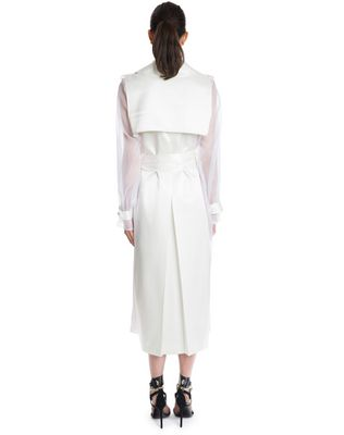 LANVIN LACQUERED TWILL AND ORGANZA COAT Outerwear D e