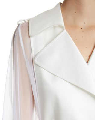 LANVIN LACQUERED TWILL AND ORGANZA COAT Outerwear D r