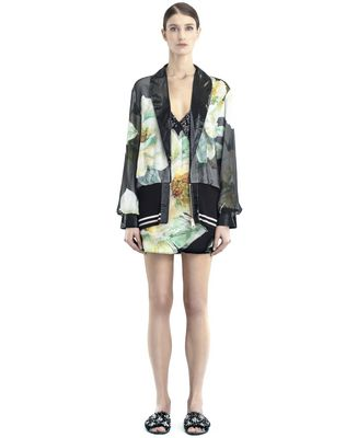 CHIFFON AND CREPE DE CHINE JACKET