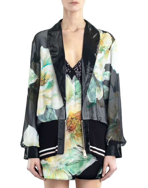lanvin chiffon and crepe de chine jacket women