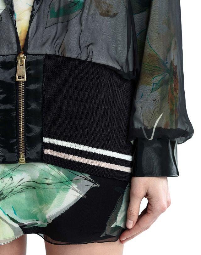 LANVIN CHIFFON AND CREPE DE CHINE JACKET Jacket D b