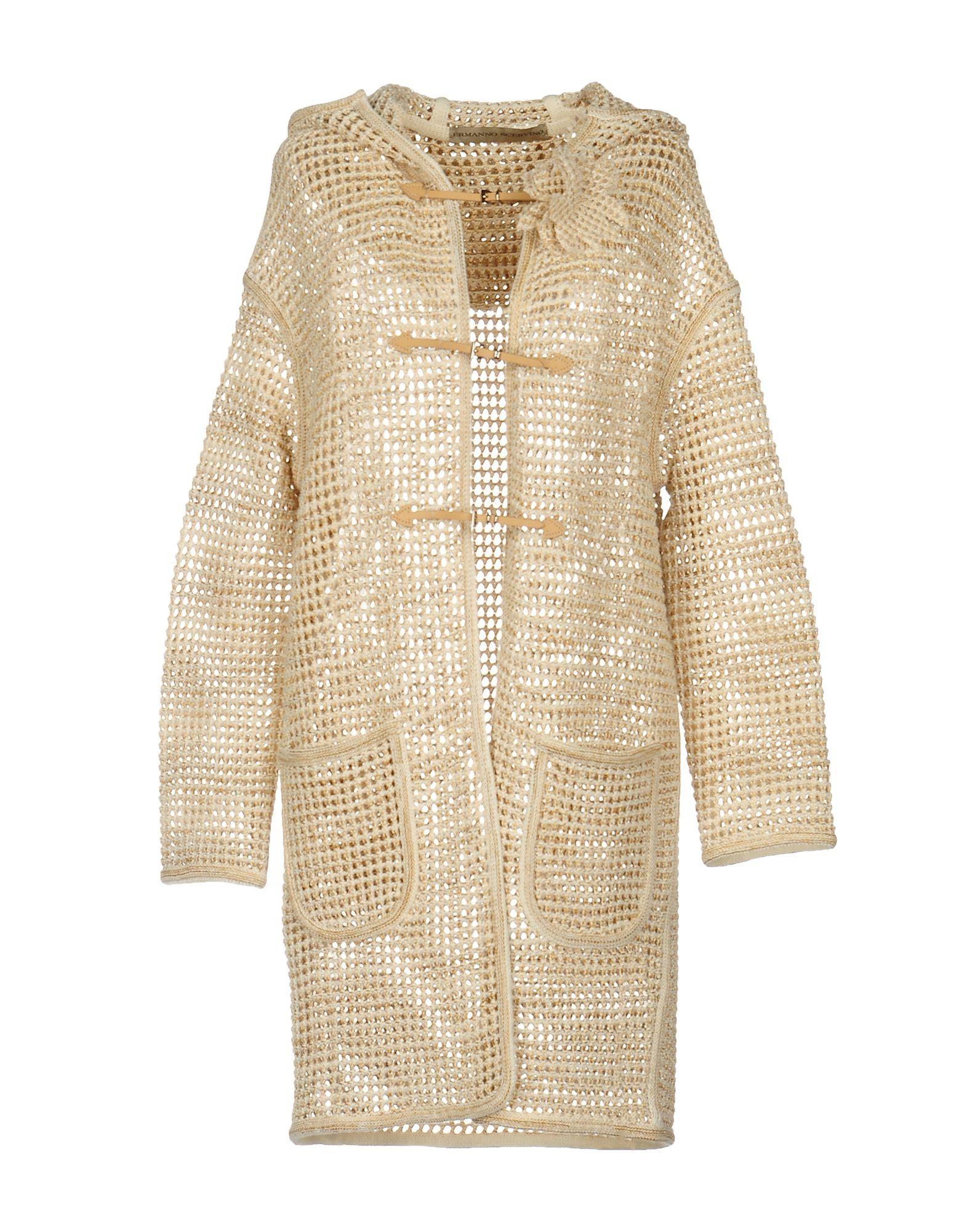 ERMANNO SCERVINO Легкое пальто пальто зима кожаные рукава цена