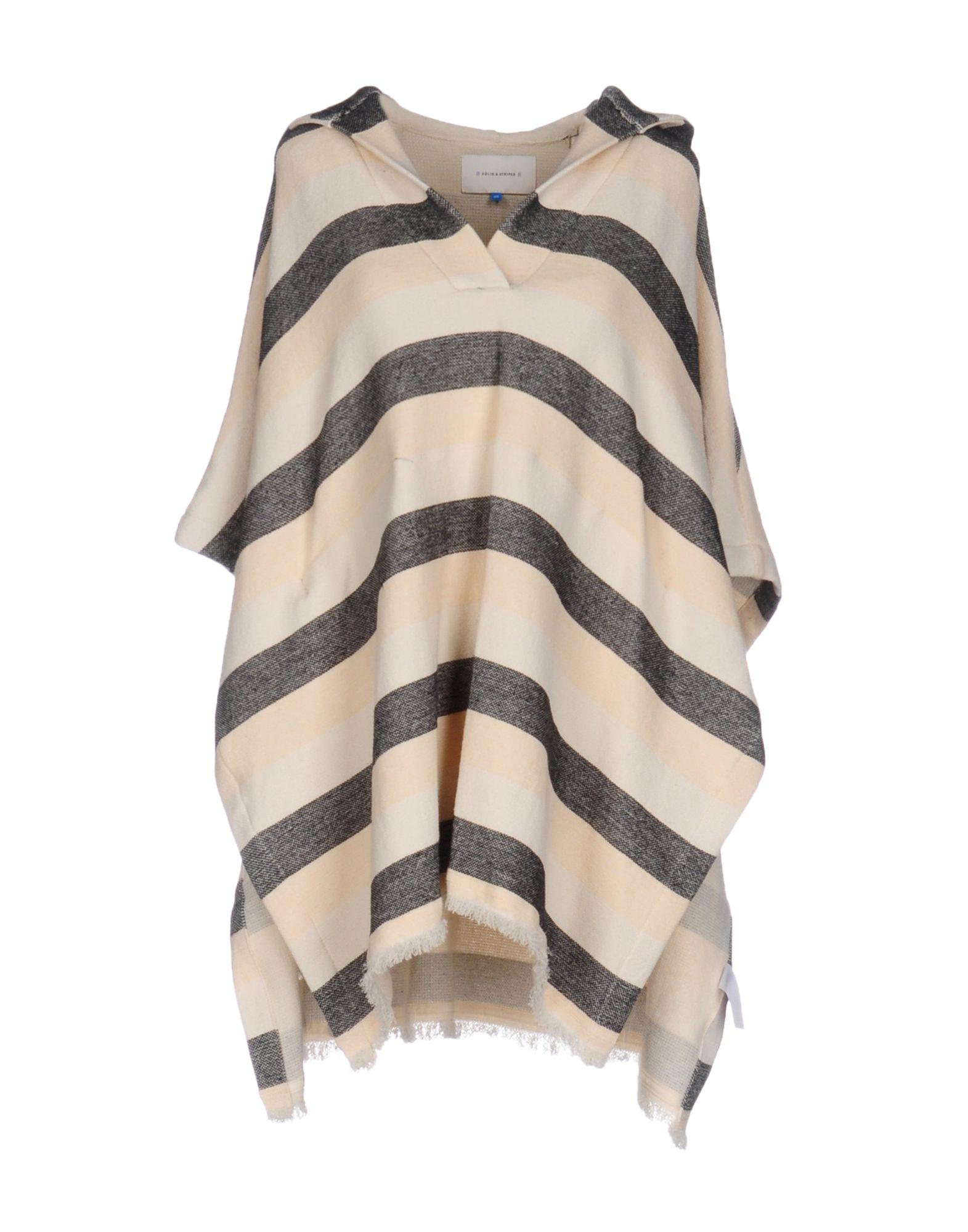 SOLID & STRIPED Накидка v neckline frill trim striped top