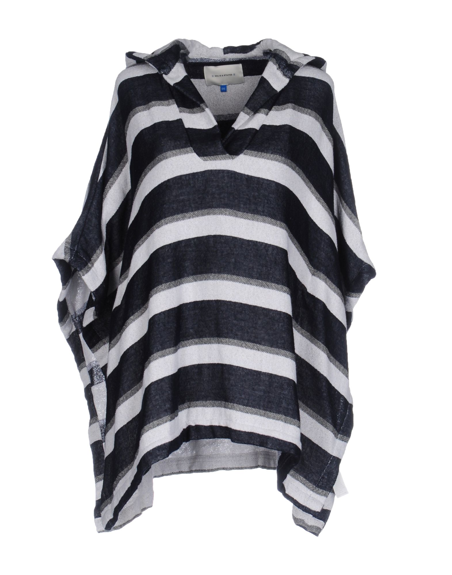 SOLID & STRIPED Накидка chevron striped double v fluted sleeve dress