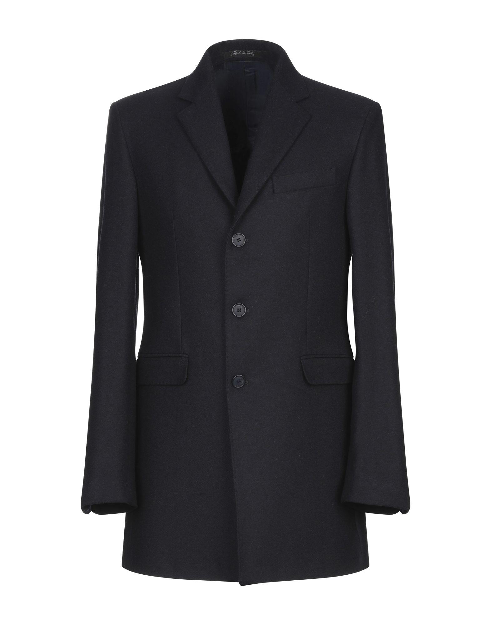 《期間限定セール開催中!》EREDI DEL DUCA メンズ コート ダークブルー 48 ウール 60% / ポリエステル 30% / 指定外繊維 10%