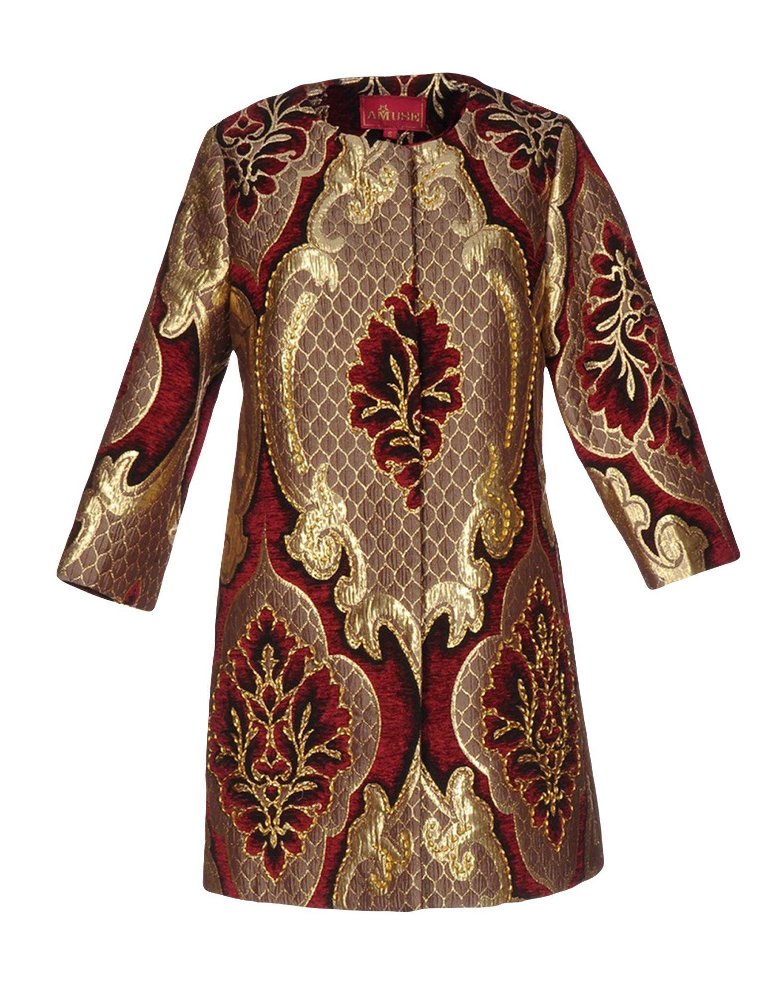 AMUSE Full-Length Jacket in Maroon