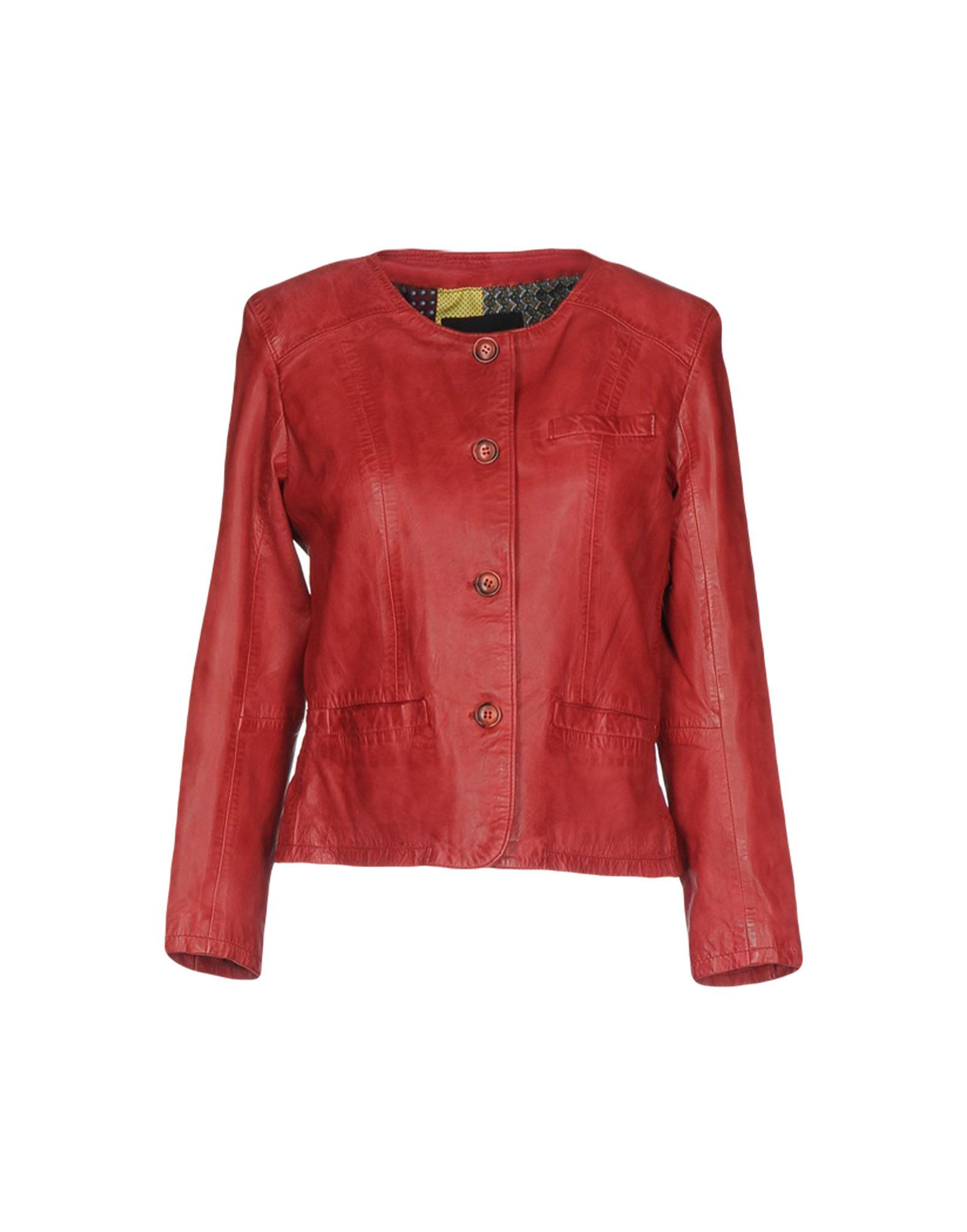 BULLY Leather Jacket in Red